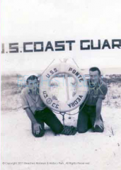 Benny P. Buza, Jr., O.D. and J. Gallagher, members of U. S. Coast Guard in Ponte Vedra, August 15, 1943