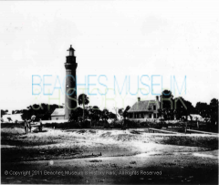 Historic St. Johns Lighthouse, Mayport, Florida, 1900