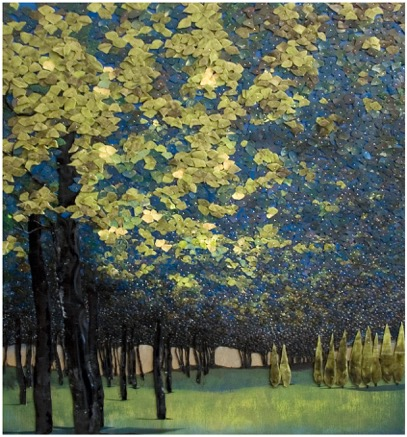 Blue Trees In Park Lana Shuttleworth