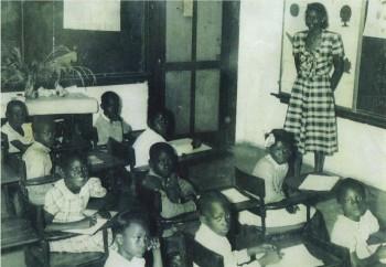 Orpah Jackson teaching at Rhoda Martin