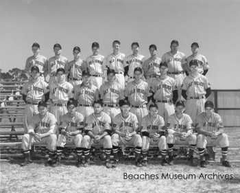 Team photo of the Jacksonville Beach Sea Birds. Dated April 8, 1952.