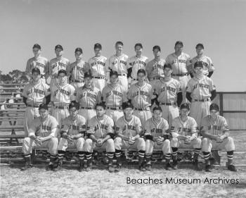 Team photo of the Jacksonville Beach Sea Birds. Dated April 8, 1952.