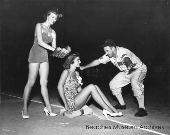 Sea Bird Player and Two Beauty Pageant Contestants