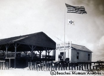 The first building for Station #1, ca. 1913.