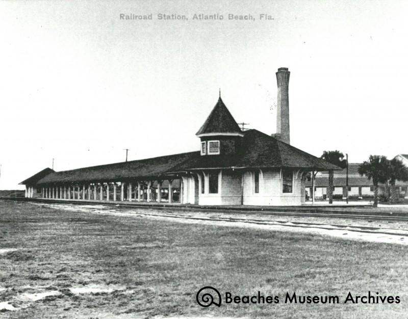 The station for the Continental Hotel, also known as the Atlantic Beach Station.