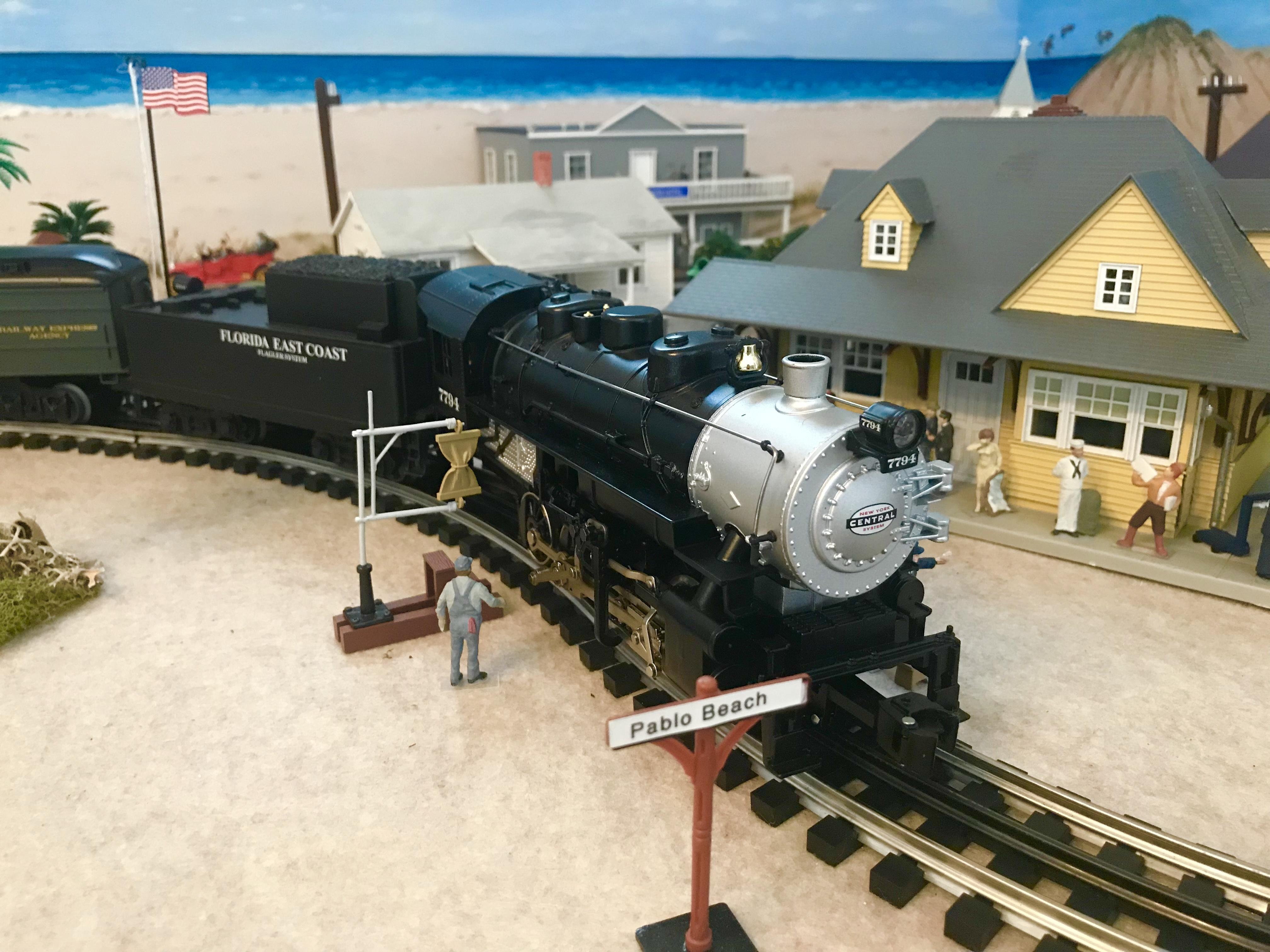 Model Train showing historic Pablo Beach, Florida